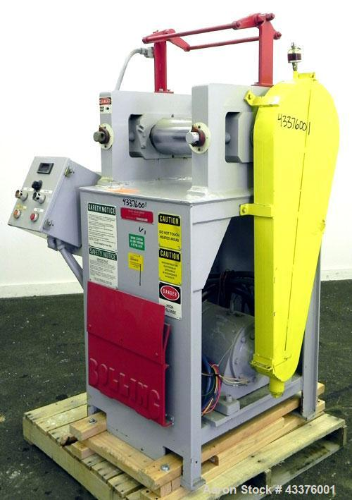 """Used- Stewart Bolling """"OE"""" Horizontal Two Roll Mill, Model 6"""" X 6"""" X 13"""". (2) 6"""" Diameter x 13"""" wide chrome plated cored rol..."""