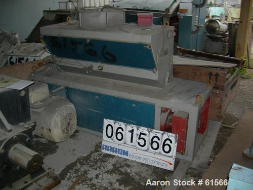 """USED: Buhler Miag 2 roll rice mill, type dbzd-212. (2) carbon steel 10"""" dia x 49"""" face grooved rolls, belt driven 25 hp 460 ..."""