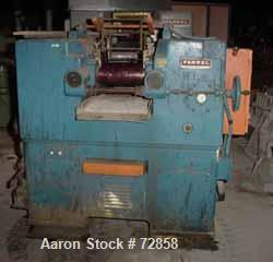 "USED: Farrel horizontal two roll mill. 6"" diameter x 13"" long iron cored rolls. End guides, 2 knee safeties. Unit requires k..."