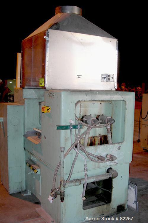 "USED: Farrel horizontal two roll mill. (2) 8"" diameter x 16"" wide cored rolls, temp range approximately 350 deg F. Adjustabl..."