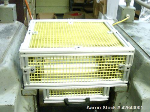 "Used-Farrell 2 Roll Mill, 13"" x 6"" cabinet style with custom safety cage and hinge interlock switch."