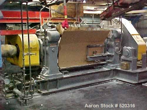 "USED: Farrell unitized 2 roll mill 22"" x 22"" x 60"". Herringbonebull gear and pinion drive. Top cap frame design, sleeve bear..."