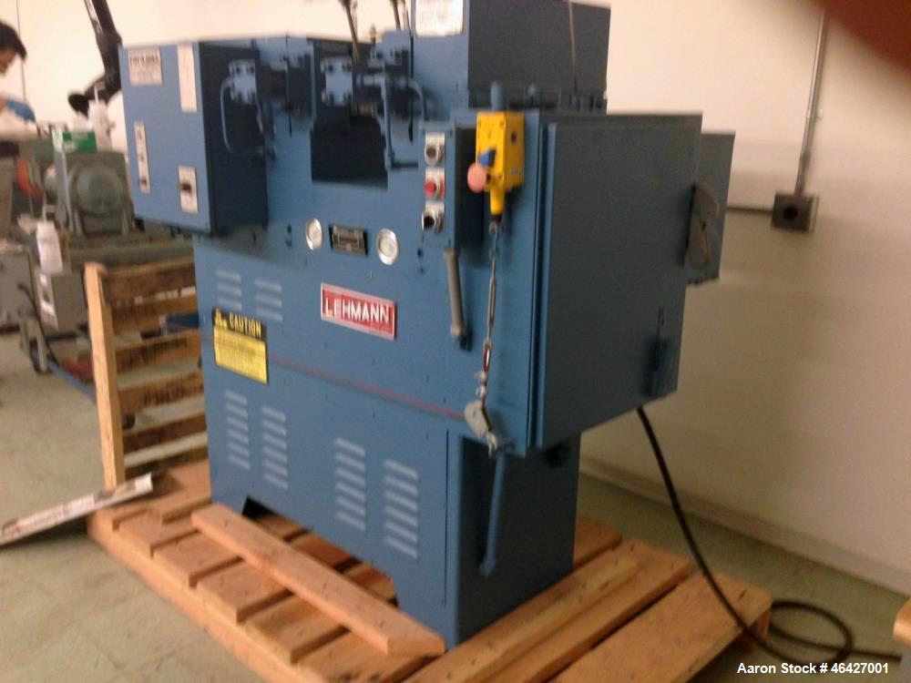 "Used- Lehmann/Thropp Two Roll Mill, Model 4xP. 4"" diameter x 8"", cored roll. Hydraulic roll adjustment, drive, mounted on ba..."