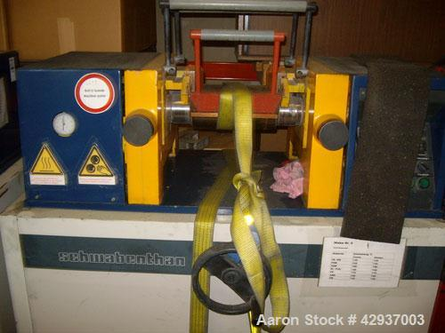 """Used-Schwabenthan Lab 2 Roll Mill, type Polymix 110P.  4.3"""" Diameter x 11.7"""" straight side (110 mm x 300 mm straight side) c..."""
