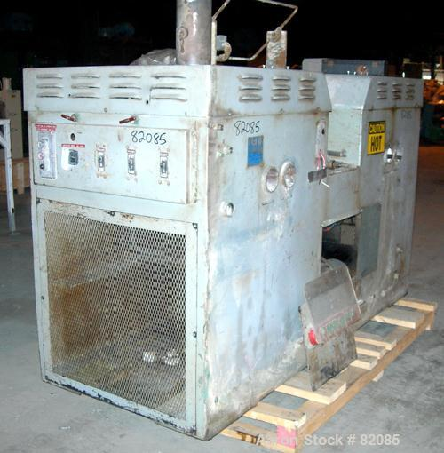 Used- Thropp High Temperature Horizontal Two Roll Mill