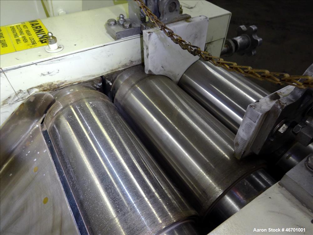 Used- Ross Horizontal Three Roll Mill, Model TRM-4 X 8.