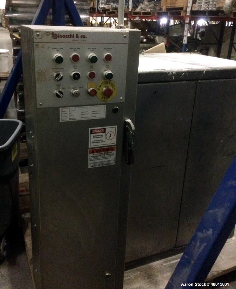 Used- Binacchi & Co. 3 - Three Roll Mill. Capacity ( gap 0.15 mm). 260 mm x 700mm Rolls. Chromed cast iron hardened 520-580 ...