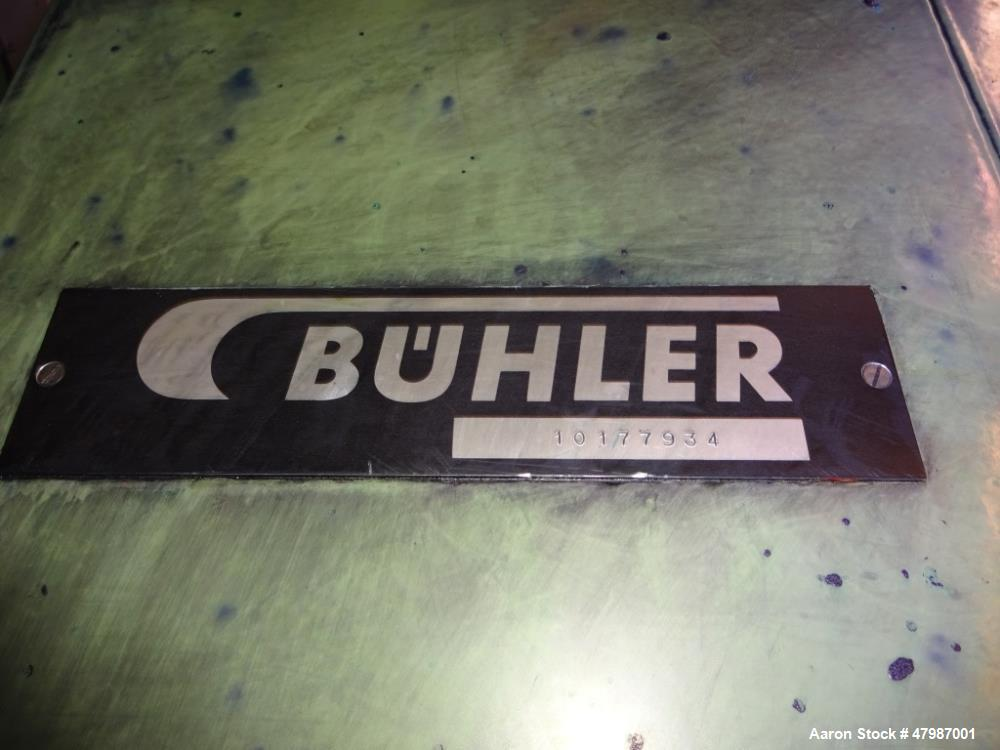"""Used- Buhler 16""""x51"""" (400mm x 1300mm) Large Production Three Roll Mill (TRM), Mo"""