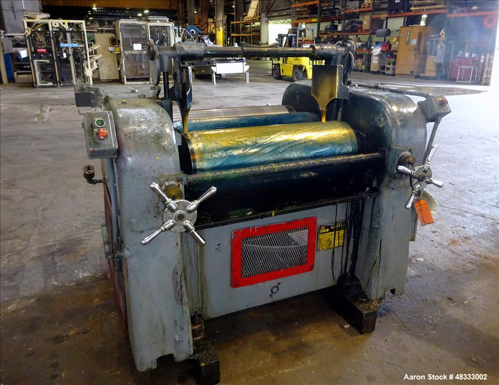 Used- Lehmann Machinery Horizontal Three Roll Dispersion Mill, Model 2A.