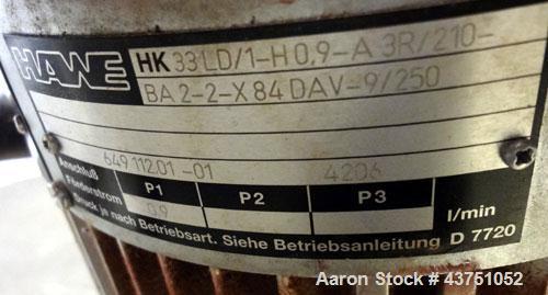 """Used- Lehmann Horizontal Three Roll Mill, Model 663-V. (3) 9"""" Diameter x 24"""" wide Bi-Metal cast iron adjustable cored rolls...."""