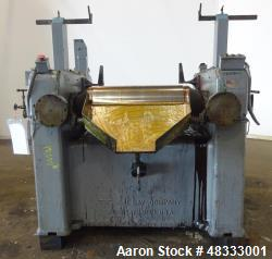 Used- J.H. Day, Horizontal Three Roll Dispersion Mill.