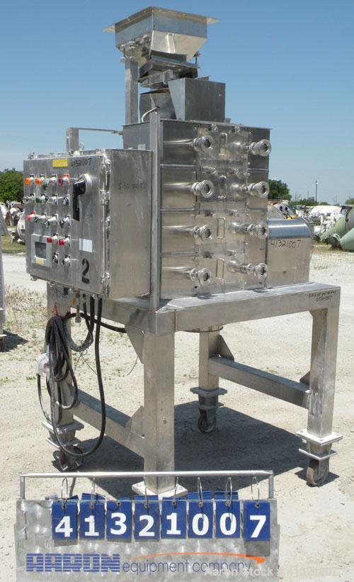 Used- Nippon Granulator Company Crack-U-Lator Cracker Mill, Model 2541. 4 layers of (8) approximately 5'' diameter x 14'' wi...