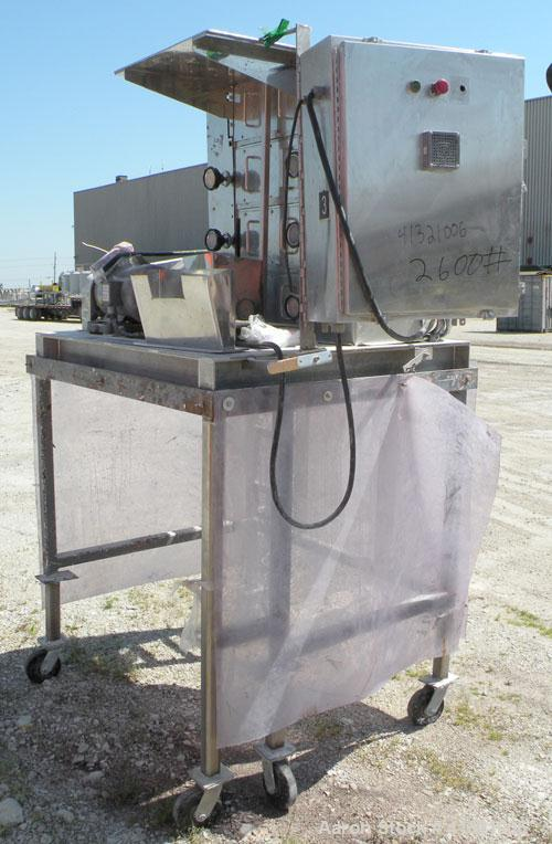 Used- Nippon Granulator Company Crack-U-Lator Cracker Mill, Model 3541. 4 layers of (8) approximately 5'' diameter x 14'' wi...
