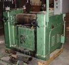 USED: J H Day three roll mill, 10 in diameter x 22 in long. Coredrolls for cooling. 15/7.5 hp two speed motor, 220V. Brass e...