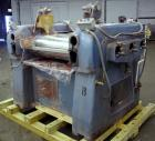 Used- Lehmann Horizontal Three Roll Mill, Model 13X32. (3) 13