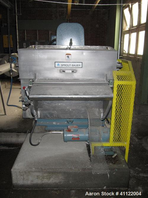 Used- Andritz Sprout Bauer Mill, Type 245-36-48; 245-364B.  50 hp, 3/60/460V/1775 rpm.