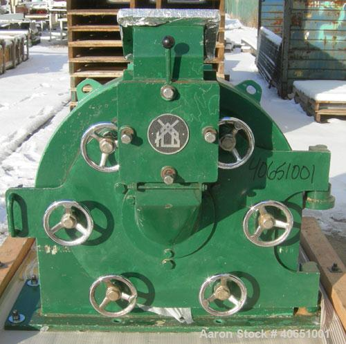"Used- Bauermeister Universal Mill, Model UT23, Carbon Steel. Approximately 18"" diameter x 6"" deep sieve ring assembly with 3..."