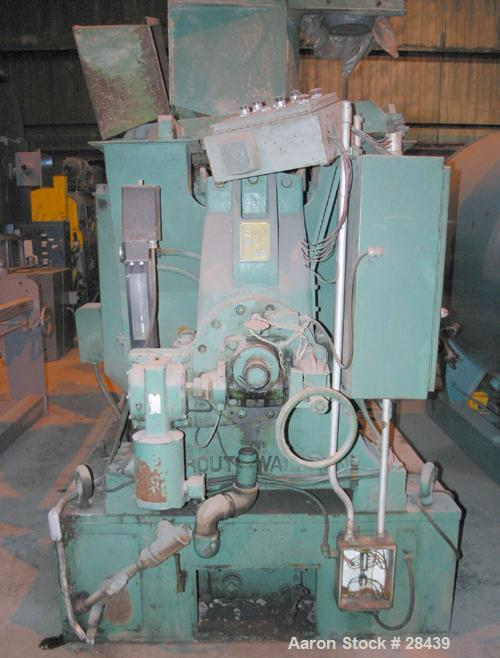 "USED: Sprout Waldron Single Runner Attrition/Disc Mill, Model 36-1B. Stainless steel clad housing 48"" diameter x 8"" deep. 36..."