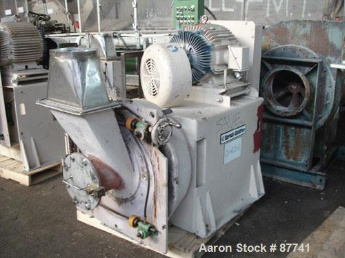 "Used- Sprout Waldron/Kopper Single Disc Mill, Model DM-24. Stainless steel contact surfaces, 24"" diameter disc, hand wheel p..."