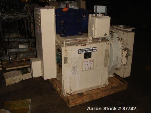 "USED: Sprout Waldron/Kopper single disc mill, model DM-24. Stainless steel contact surfaces, 24"" diameter disc, hand wheel p..."