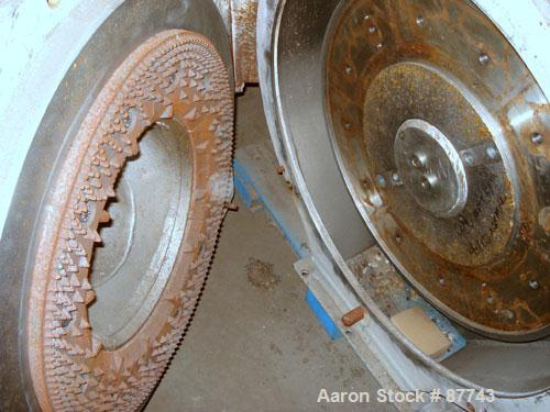 """Used- Sprout Waldron/Kopper Single Disc Mill, Model DM-24. Stainless steel contact surfaces, 24"""" diameter disc, hand wheel p..."""