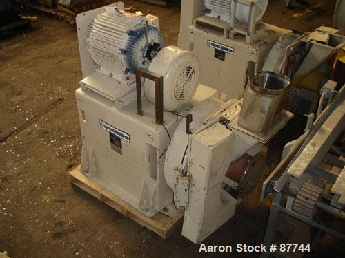 """USED: Sprout Waldron/Kopper Single Disc Mill, model DM-24. Stainless steel contact surfaces, 24"""" diameter disc, hand wheel p..."""