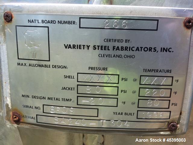 Used- Szegvari Attritor System/ Union Process, Model 200-3DSA, Type: Batch. Approximately 300 Gallon capacity. Jacketed tank...