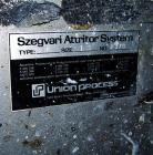 Used- Stainless Steel Union Process Szegvari Attritor, Type 1S