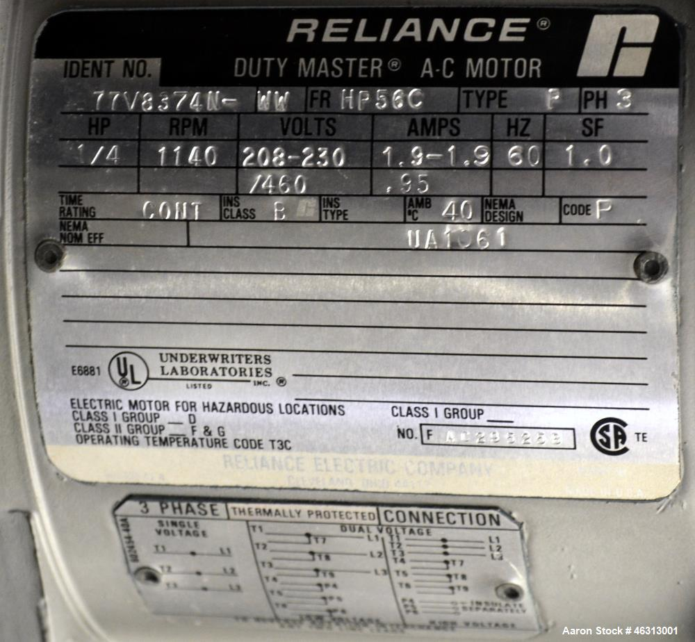 Used- Union Process Szegvari Laboratory Batch Heavy Duty Attritor Mill, Type 01HD, Size 01. Approximately 250cc (0.1 gallon)...