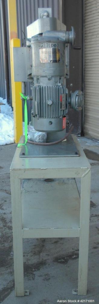 Used- Union Process Intermittent Type Laboratory Batch Attritor Mill, Type 1 S, Size 1. Teflon lined tank, approximate 0.8 g...