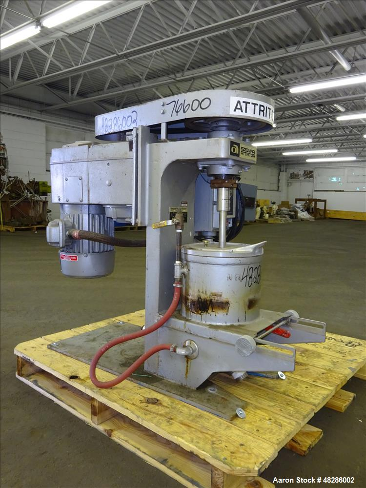 Used- Union Process Szegvari Laboratory Batch Attritor Mill, Type B, Size 1S, St