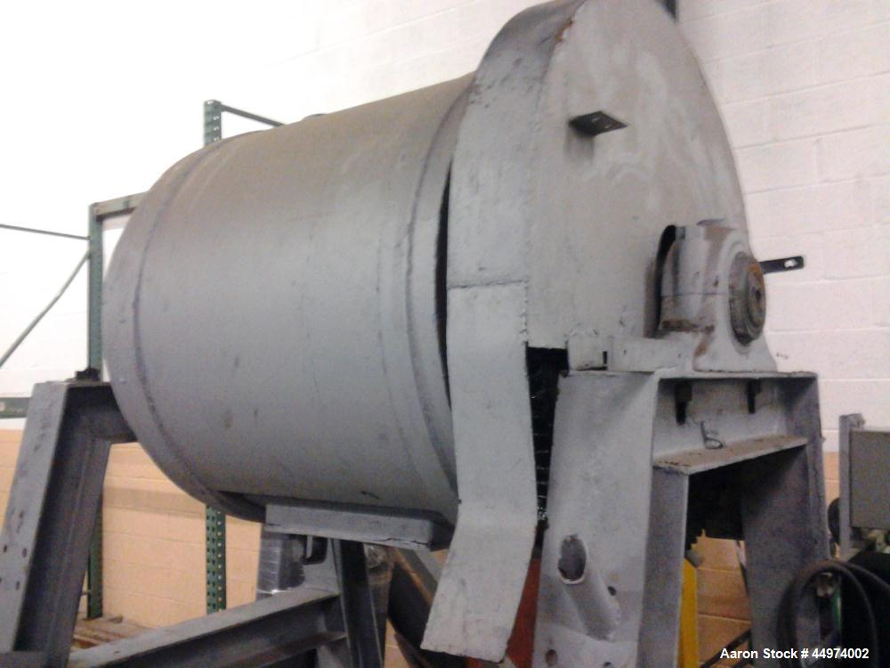 Used-Ball Mill, 24 cubic foot capacity, rubber lined drum.  Includes complete mill motor, drive unit, control panels, electr...