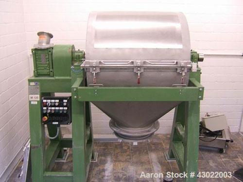 Used-Georg Jackl Ball Mill, stainless steel, total volume 55.5 gallons (210 liters), maximum charge 397 lbs (180 kg), bowl s...