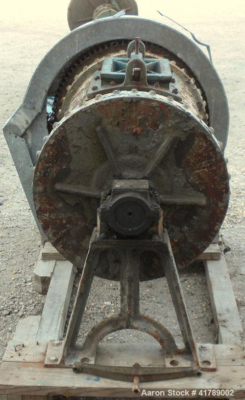 "Used- Ball Mill, Brick Lined/Carbon Steel. Approximately 21"" diameter x 32"" straight side. Approximate 6.4 cubic foot capaci..."