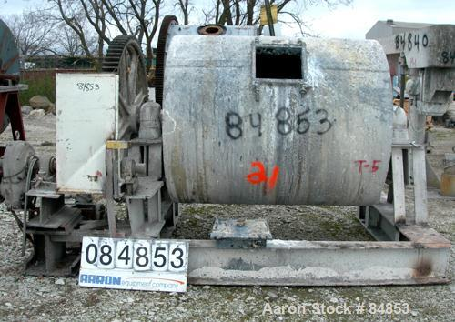 "Used- Ball Mill, 782 Gallon Capacity. Carbon steel lined non-jacketed chamber 60"" diameter x 64"" long. 13"" x 15"" charge port..."