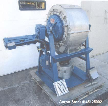 Used-Patterson Ball Mill, Model 15 x 21 TDV VNL