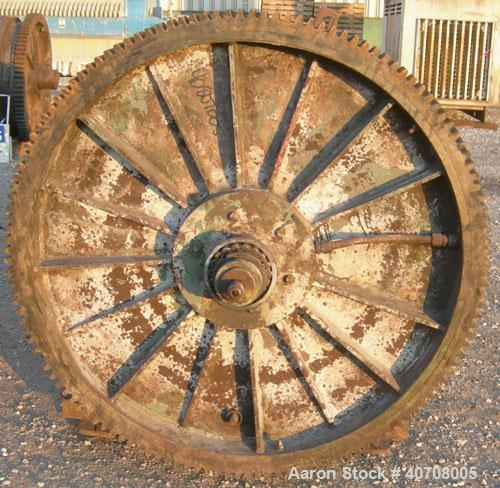 Used- Patterson Foundry Ball Mill, carbon steel. Approximately 48'' diameter x 66'' long non-lined jacketed chamber. Approxi...