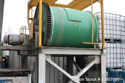 Used-Patterson Ball Mill, 80 cubic feet.  Ceramic lined with ceramic balls, Master Electric motor 220/440 volt, 20 hp, 52/56...