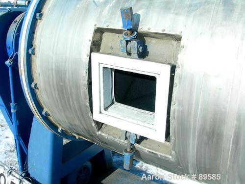 USED: Paul O Abbe ball mill, model 6BM. Carbon steel Teflon lined jacketed chamber. Internal rated atmos, jacket rated 40 ps...