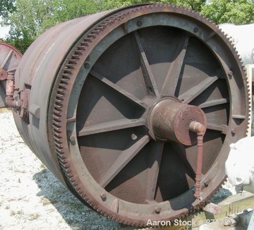 "Used- Paul O Abbe Ball Mill, Model BM-1. Carbon steel jacketed chamber, non-lined. 72"" Diameter x 60"" long, 1057 total gallo..."