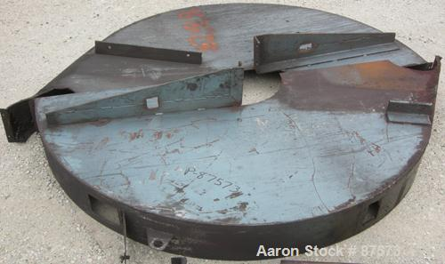 """Used- Paul O Abbe Ball Mill, Model BM-1. Carbon steel jacketed chamber, non-lined. 72"""" Diameter x 60"""" long, 1057 total gallo..."""