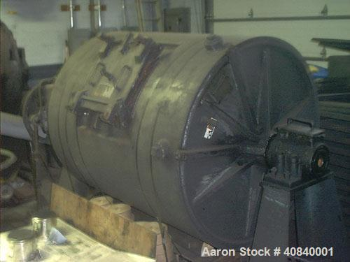 Used-Paul O Abbe BM-5B Ball Mill, jacketed. 10 hp motor with belt drive and shaft mount reducer. Jacket rated for 15 psig at...