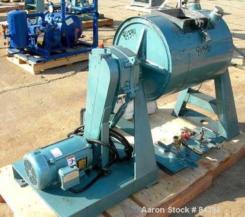 """USED: Paul O Abbe ball mill, model BM-8. 18"""" diameter x 24"""" long inside shell. Cylinder material abrasion resistant steel. F..."""