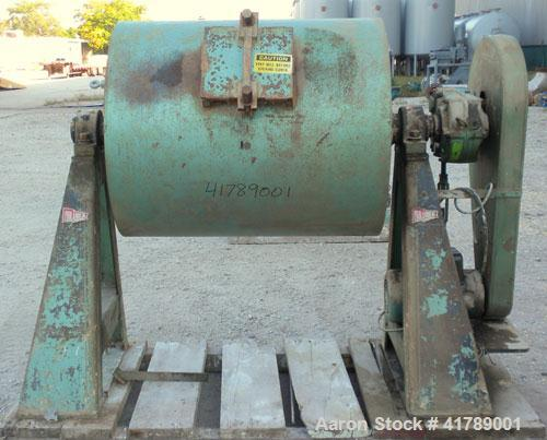 "Used- Paul O Abbe Ball Mill, Brick Lined. Approximate 32"" diameter x 33"" straight side. Approximate 12.6 Cubic Foot Capacity..."