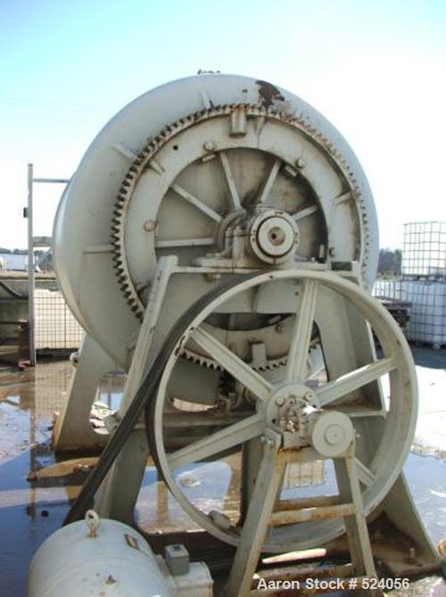 USED: Paul O Abbe 4' x 6' ceramic lined with 3000 lb flint rock. Motor is 20 hp, 3 phase, 240 volt, 800 rpm. Babbit bearings...