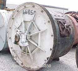 """Used- Ball Mill, Carbon Steel. Jacketed 60"""" diameter x 48"""" long. 78 cubic foot (587 gallon) capacity. 12"""" diameter inlet, 8""""..."""