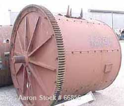 "Used- Abbe Ball Mill, Carbon Steel. Jacketed, 6' diameter x 6' long. 170 cubic foot (1269 gallon) capacity. 16"" diameter inl..."