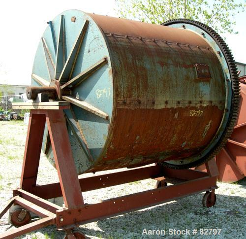 Used: Paul O. Abbe Ball Mill, carbon steel non-lined chamber