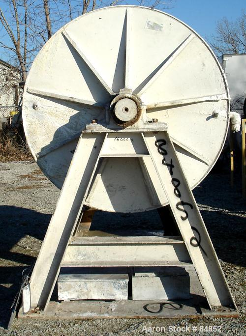 """Used- Paul O Abbe Ball Mill, 1269 Gallon Capacity. Carbon steel, lined non-jacketed chamber 72"""" diameter x 72"""" long. 13"""" x 1..."""