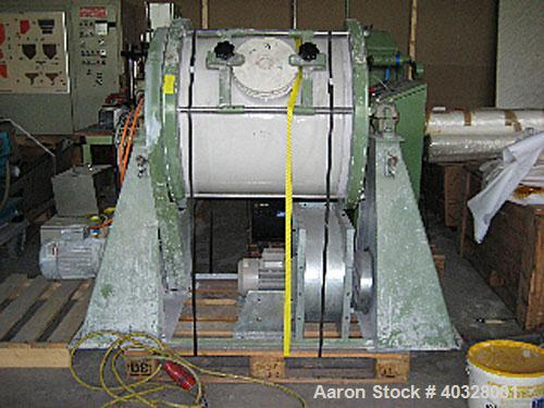 Used-Welte Mahltechnik ball mill, type WPM200-S-2. Material of construction is ceramic on product contact parts including ba...